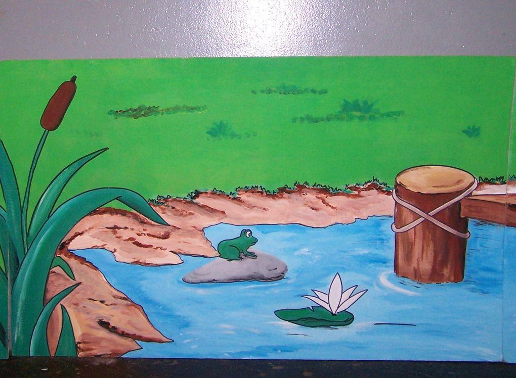 Décors réaliser à la peinture sur du carton