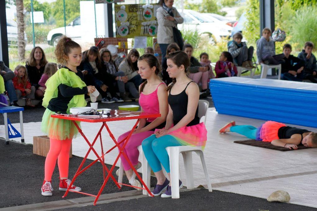 Le savoureux spectacle de Sarah Sénèque et ses élèves de l'atelier.