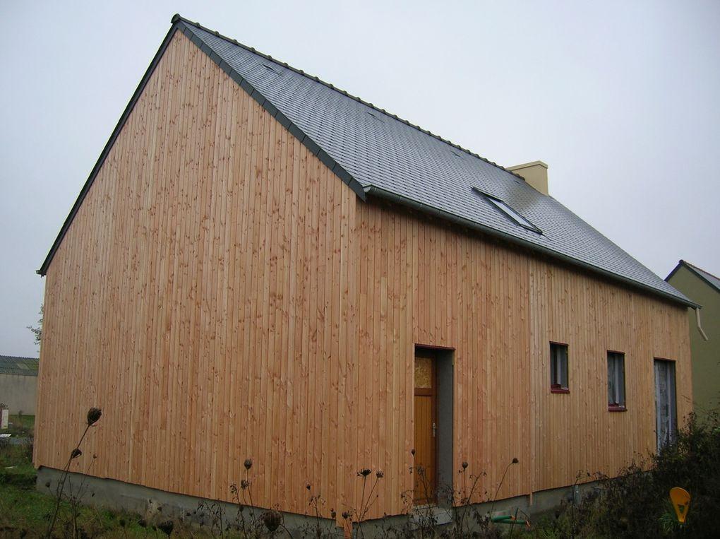 Album bardage construction maison ossature bois for Bardage maison ossature bois