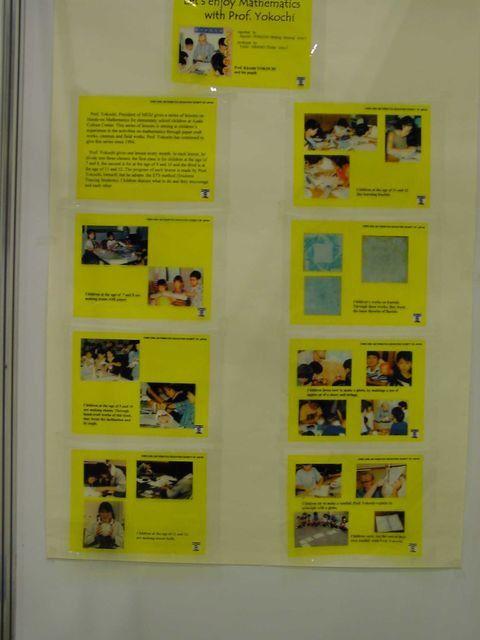 Exposition au colloque 2000 des travaux d'enseignants de mathématiques japonais