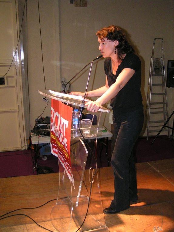 Meeting départemental à Valence avec Corinne Morel-Darleux, Marc Dolez, Karim Ghendouf, Elsa Johnstone.