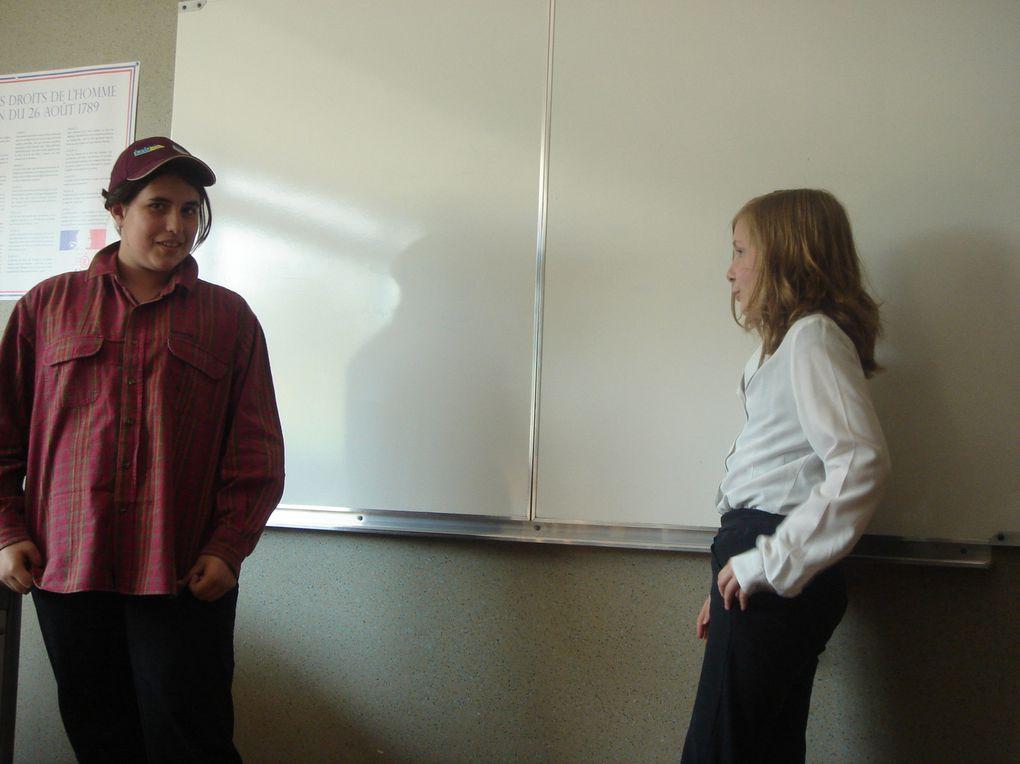 les 5°A en pleines fourberies Année scolaire 2010/2011