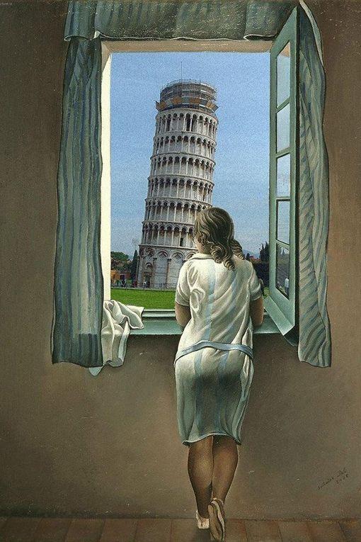 """Ah, cette Tour penchée en a inspiré plus d'un !   Voyez ces quelques photos « clin d'œil » en complément à l'article """"Un tour à Pise, le temps d'un dessin, vous tente-t-il ?"""" publié dans « chefs-d'œuvre d'Italie » (colonne de dr"""