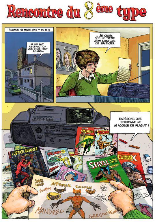 """""""Rencontre du 8e Type""""Planches 31 à 33 - avril 2012)Mini-épisode en hommage à Moebius à l'occasion de son décès."""