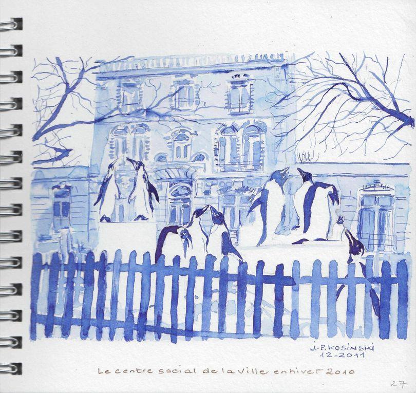 Petit voyage à l'aquarelle et à l'encre dans cette ville des Yvelines de 30.000 habitants