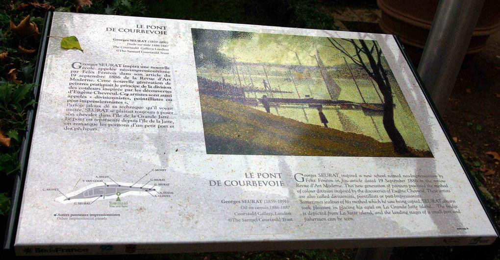 Une visite de l'Ile de la Grande Jatte, rendez-vous des parisiens et des peintres à la fin du XIXème siècle. Le tableau de Georges Seurat reste le symbole de cette époque.L'Ile des Impressionnistes la plus proche de Paris, et son circuit de 4 km