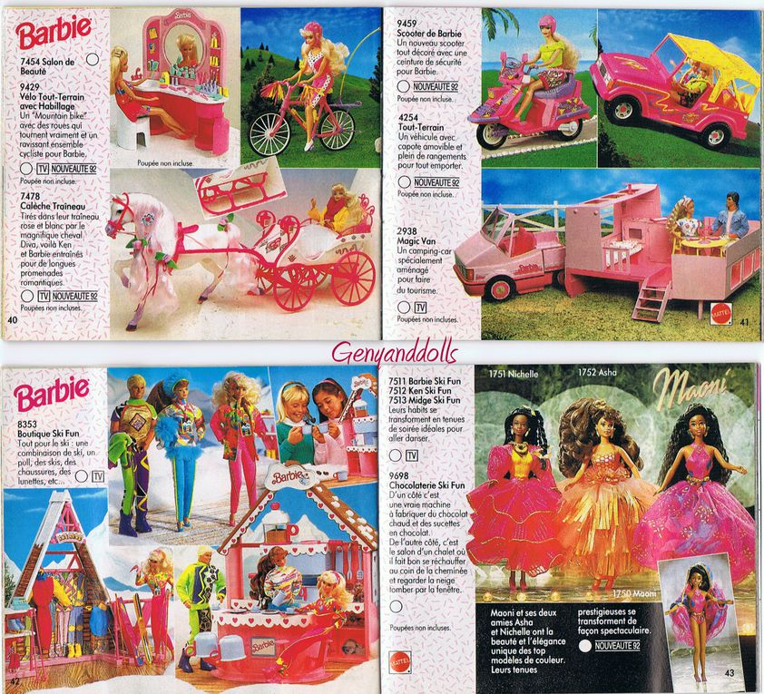 Album - Catalogue-Mattel-Barbie-1992
