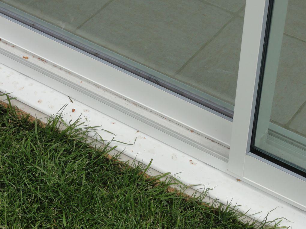 Avant et apres, la modification de notre terrasse couverte en veranda.