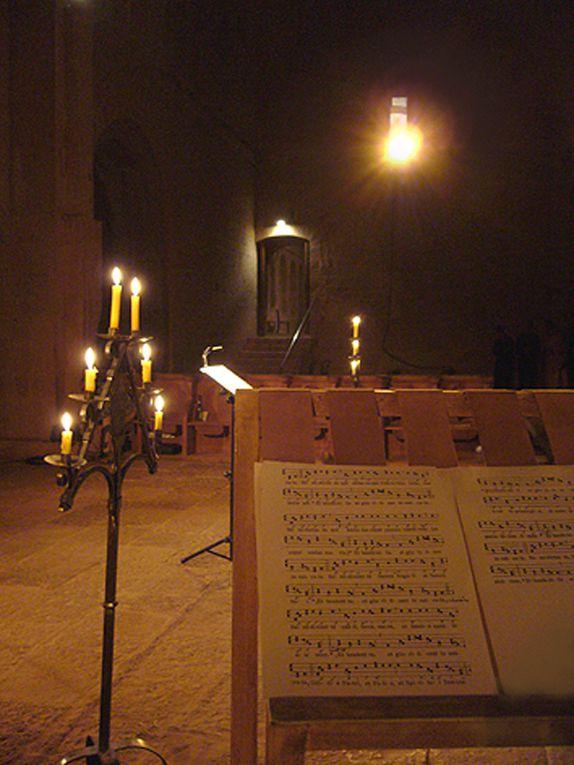 Concerts des chantres de l'abbaye du Thoronet dirigés pas Damien Poisblaud en 2008
