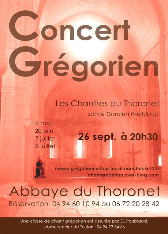 Concerts des chantres de l'abbaye du Thoronet. direction Damien Poisblaud