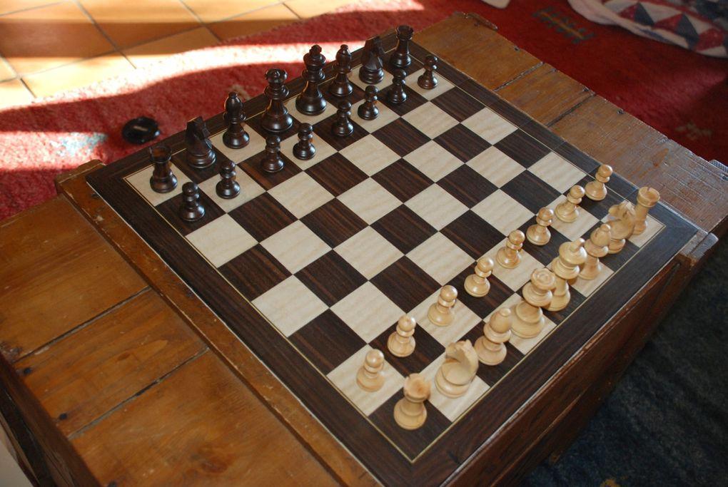 Un jeu d'échec pliant en bois, c'est possible !