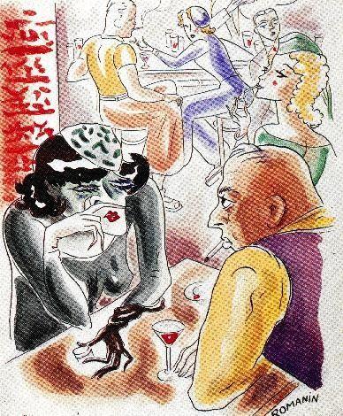 Jean Moulin était aussi dessinateur. Il utilisait le pseudonyme de Romanin. Pendant la guerre, il avait une galerie à Nice au 22 ter rue de France qui lui servait à justifier ses nombreux déplacements. Principalement caricaturiste, ses dessins é