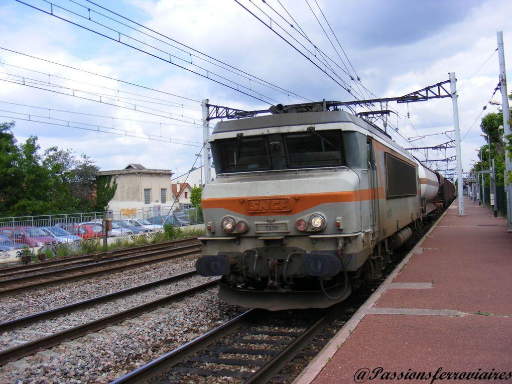 Locomotives électriques à courant continu.