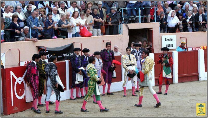Samedi 14 juillet 2102-CERET-Corrida de 6 MORENO DE SILVA pour EL FUNDI, Javier CASTAÑO et Serafin MARIN- Cavalerie Alain BONIJOL