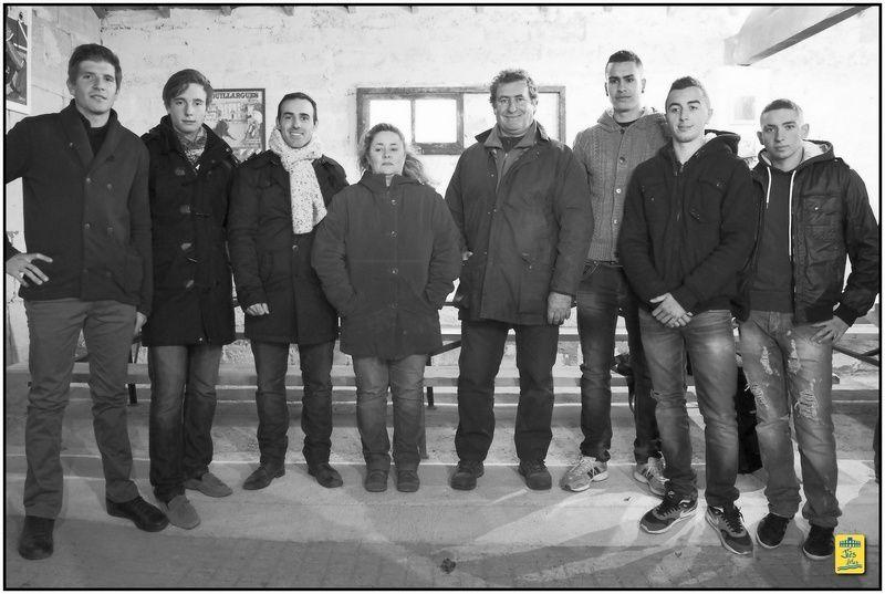 30 novembre 2013 - Invitation et tienta pour les partenaires et amis de la famille Lautier au Mas de l'Isle à la ganaderia des Héritiers de François André