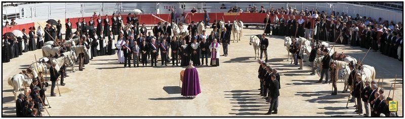 Dernier hommage solennel rendu à Hubert Yonnet en l'Eglise N.D. de la Major et dans les arènes d'Arles