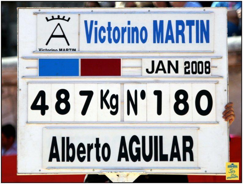 Corrida de 6 Toros de Victorino Martin pour Diego URDIALES, Alberto AGUILAR et Joselito ADAME - Cavalerie Philippe HEYRAL