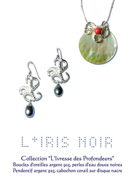 Echantillon de bijoux créés par Iris Simon pour L'IRIS NOIR