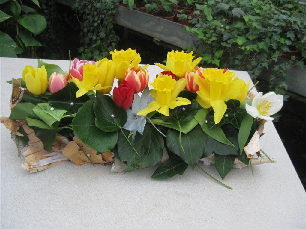 Une démonstration de déco florale aus serres municipales de la Ville de Bourges
