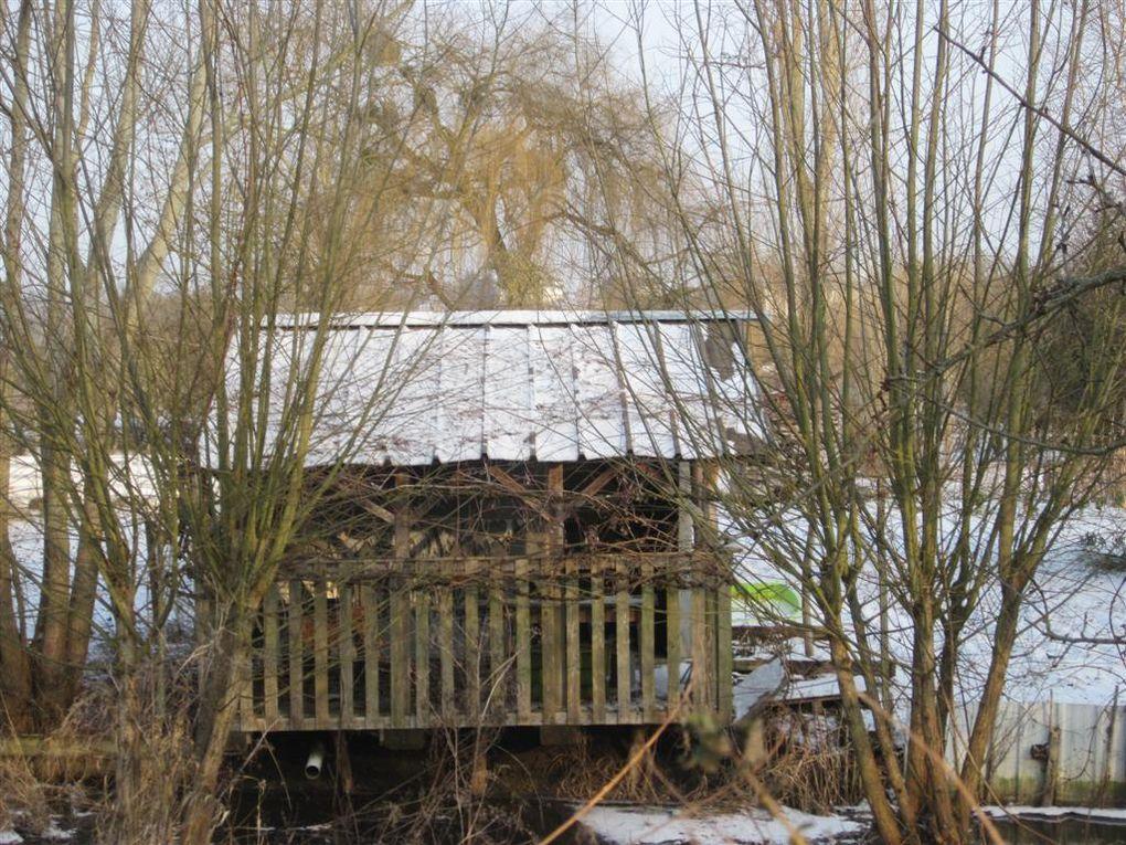 une balade dans les marais de Bourges, sous la neige