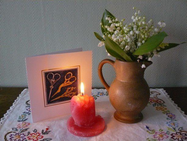 Les bougies allumées pour l'anniversaire de mon blog