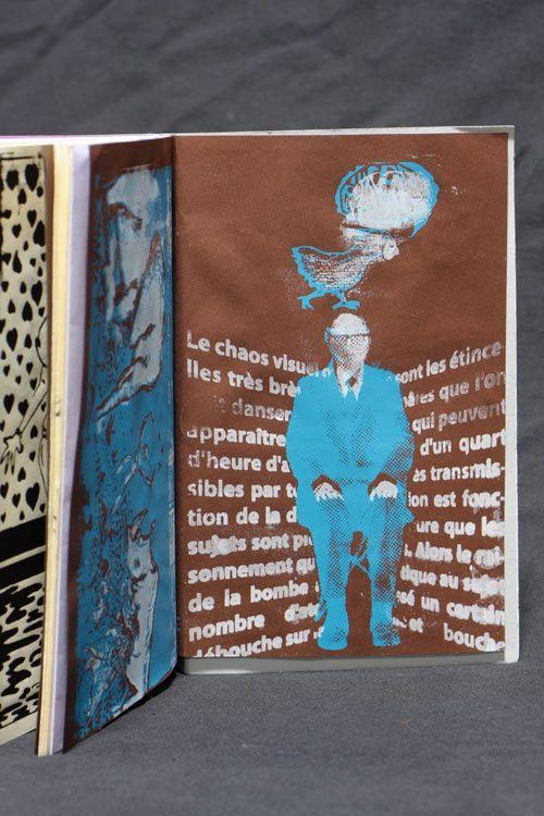 """fanzine illustré, édité et imprimé artisanalement par les illustrateurs des """"Edititions du Monstre"""". 45 pages sérigraphiées + techniques mixtes, format A5, couverture linogravée, 50 exemplaires - vendu 14 euros"""