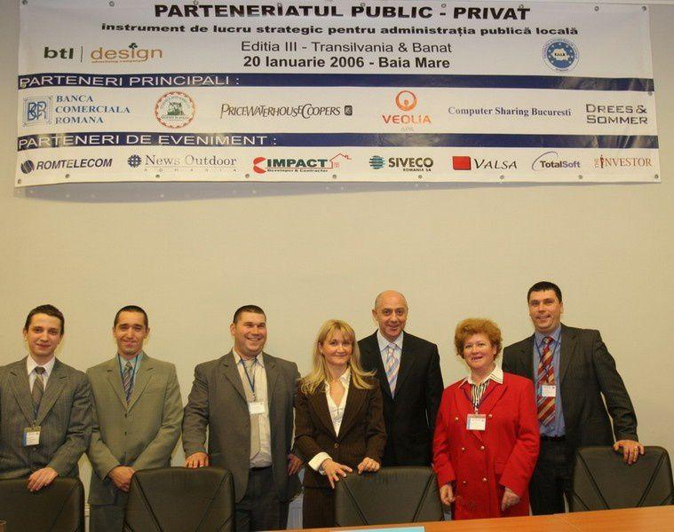 Seminar Parteneriat Public Privat, Baia Mare 20 ianuarie 2006, organizat de BTL Design (foto Stef Micsik)