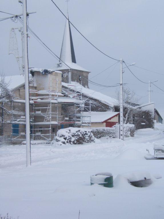 Bure sous la neige