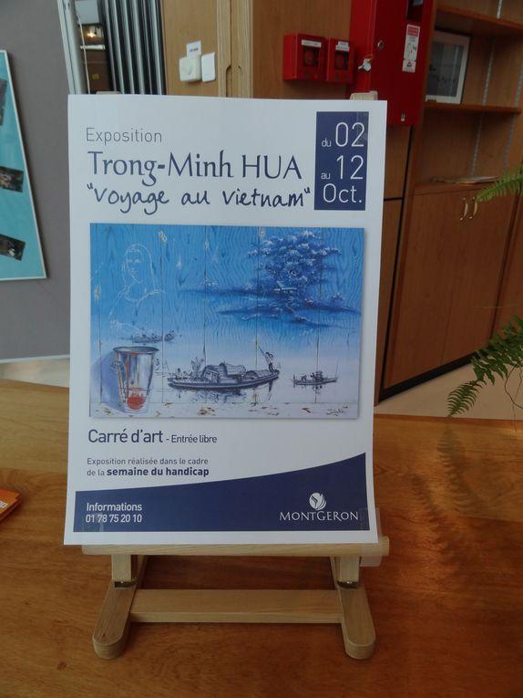 Vernissage de l'expo au Carré d'art le 5 octobre 2012