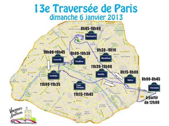 13eme Traversee de Paris en anciennes le 6 janvier 2013Organisée par Vincennes en Anciennes