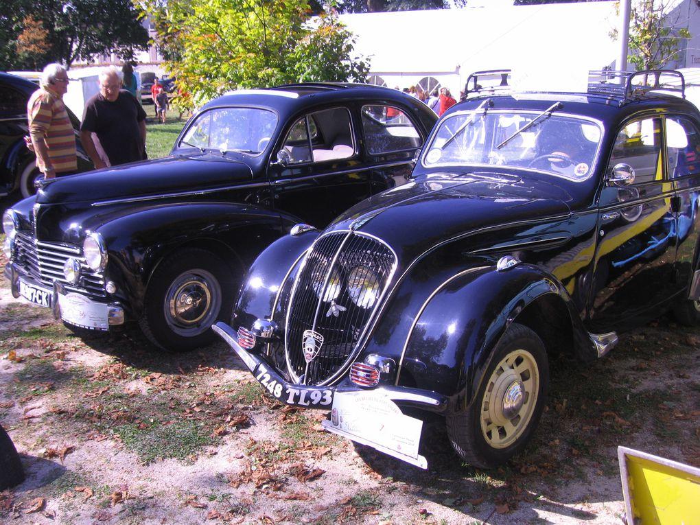 Les Belles du Vert Galant 2014 Exposition et balade voitures, motos anciennes et de collection, Trambay en France