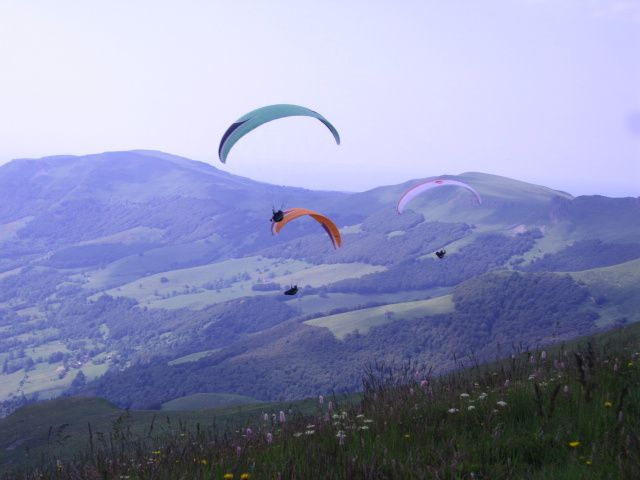 Stage Parapente Au Puy Mary Cantal juillet 2013