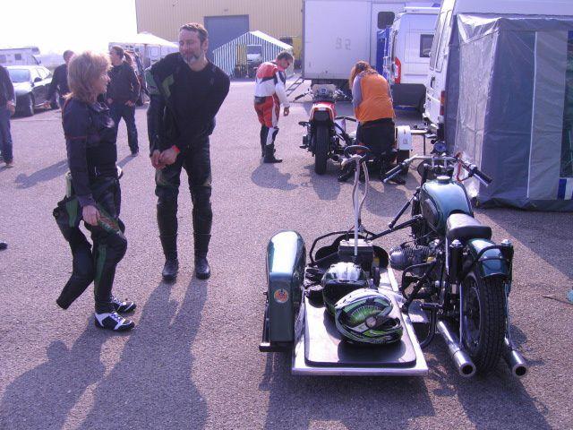 5 eme Sidecar-party 2012 Lurcy-Levis.Démonstrations sidecars de vitesse sur piste
