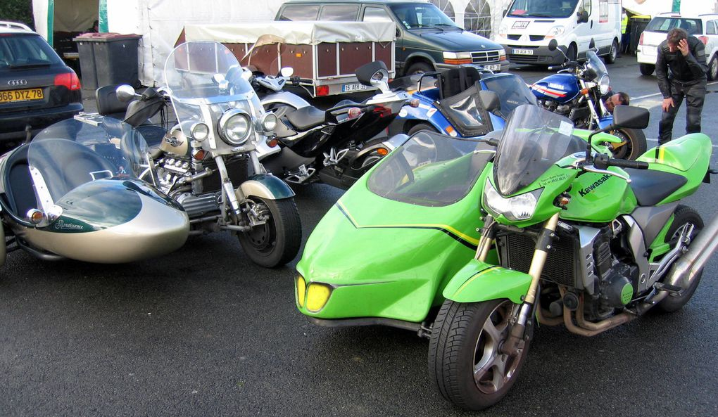 Baptême voitures de sport, motos et side-car pour le téléthon 2009 à Carole