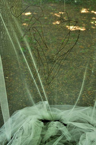 L'installation des artistes dans les jardins
