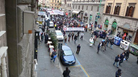 foto della manifestazione di Roma del 17 ottobre 2009