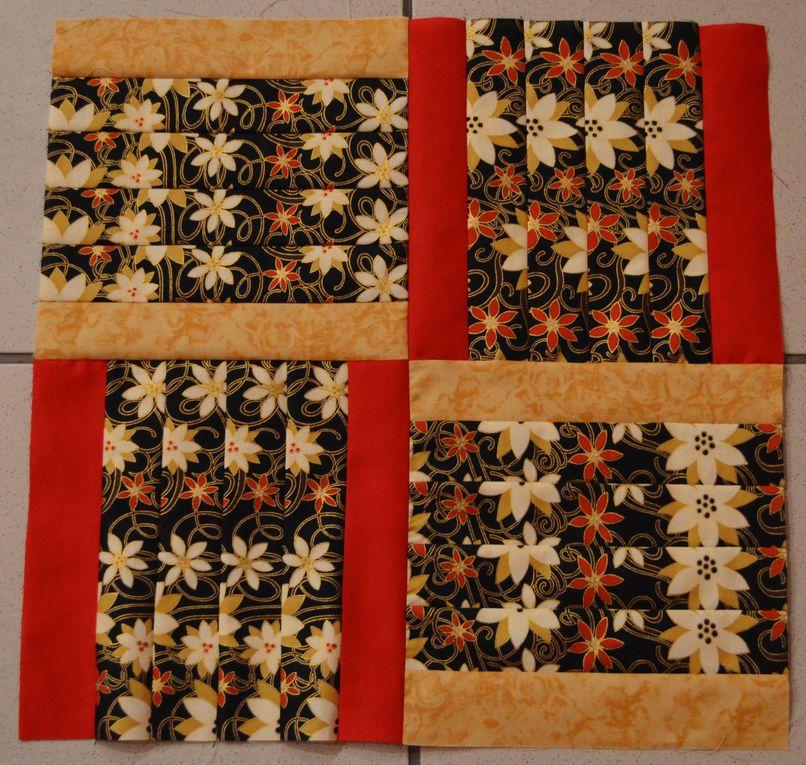 """avec la méthode """" stack and whack"""" voici un nouveau modèl appelé ribbon weave car il donne l'impression de rubans tissés"""