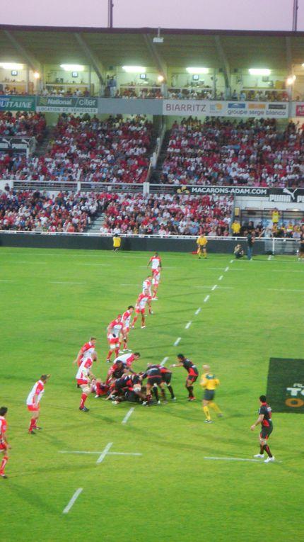 Biarritz Olympique-Toulon. TOP 14 saison 2010-2011, 2ème journée, le vendredi 20 août 2010 au Stade Aguiléra de Biarritz (64). Score final : 3-13.Photos : Nicolas Gréno.