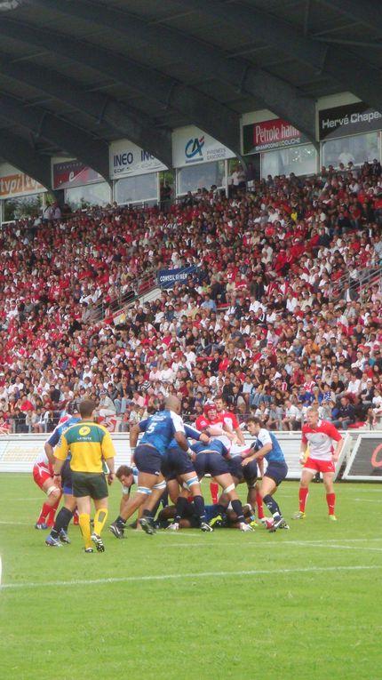 Biarritz Olympique-Montpellier. TOP 14 saison 2010-2011, 1ère journée, le vendredi 13 août 2010 au Stade Aguiléra de Biarritz (64). Score final : 30-22.Photos : Nicolas Gréno.