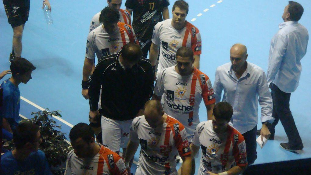 Finale de la Coupe de la Ligue de handball. Le samedi 18 décembre 2010 dans le Palais des Sports de Pau. Score final : 32-29 en faveur des Montpelliérains.Photos : Nicolas Gréno.