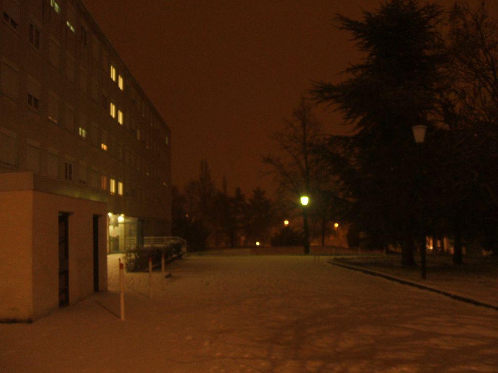 Les premières neiges de 2009 à Dijon.
