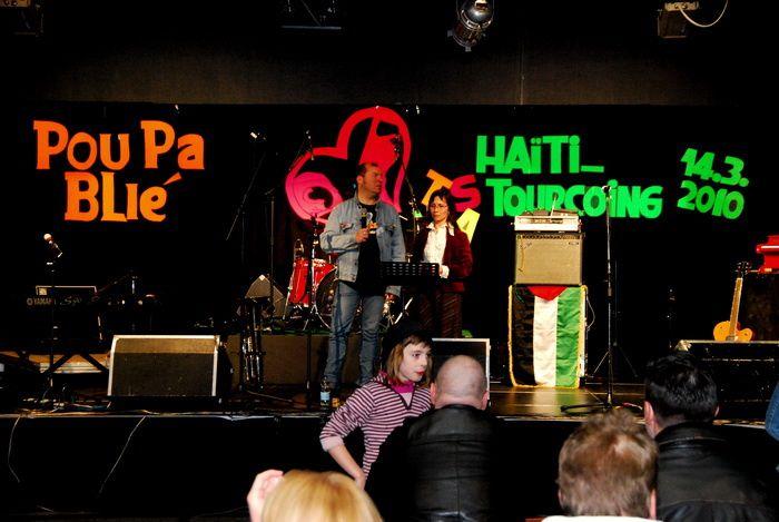 Hier, le dimanche 14/3 en salle G.Daël, le concert de soutien Haïti a eu lieu dans une ambiance chaleureuse et de bonne humeur. Beaucoup d'artistes, d'ingénieurs du son et de lumières et des bénévoles ont participé tous bénévolement au rasse