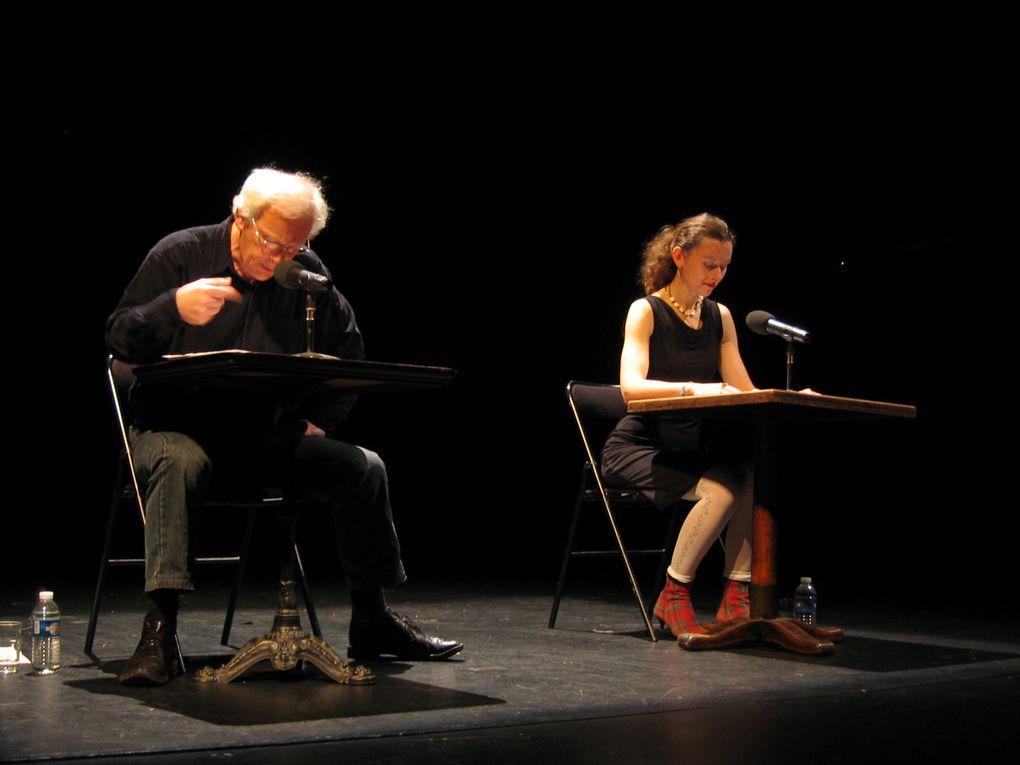 Lecture-Performance par Vanda Benes et Christian Prigent sur les texte de Christian Prigent