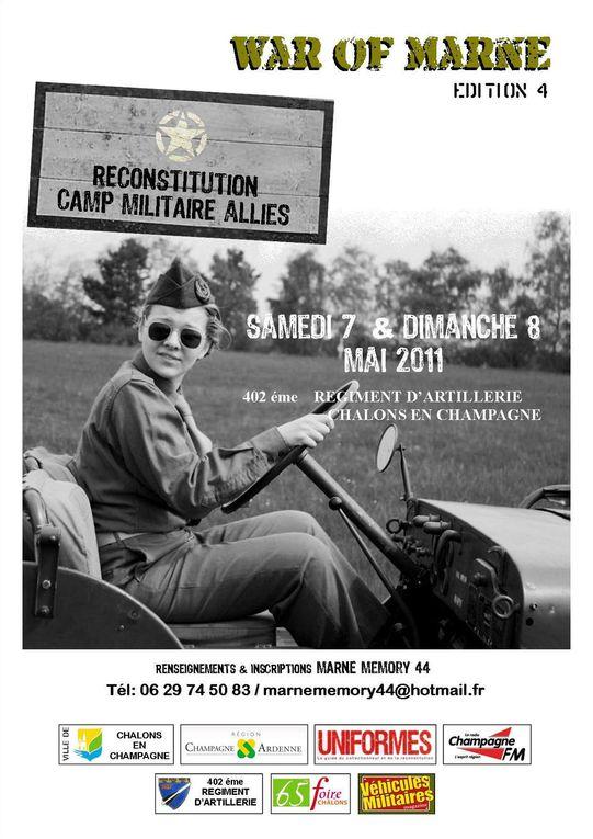 Reconstitution historique 39/45 a Chalons en Champagne 2011