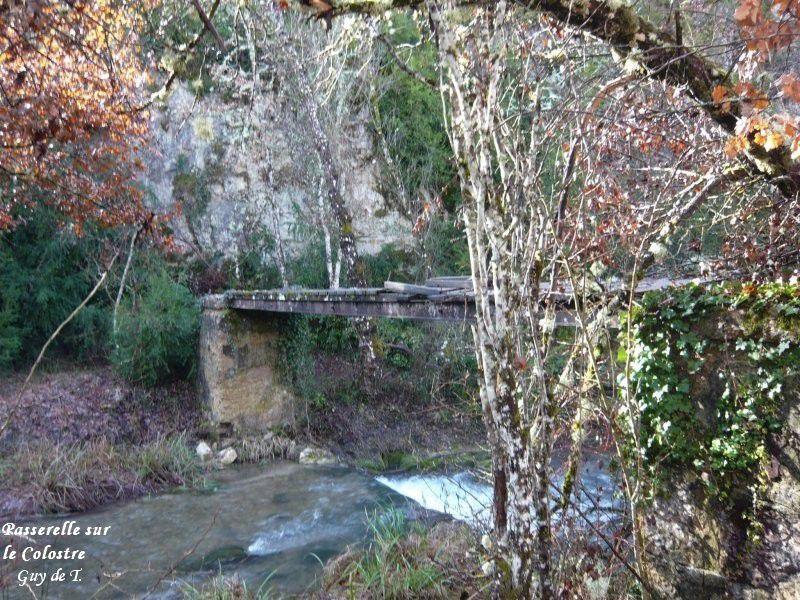 Circuit provisoire entre ST MARTIN et le barrage de Gréoux.
