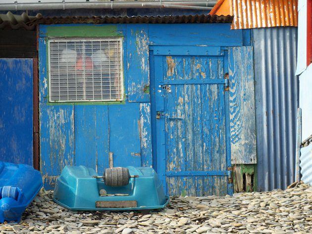 Petit quartier de baraques de pêcheurs à la sortie de la ville de Brest&#x3B; bien connu des gens du coin.