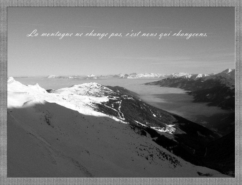 Album - La montagne en noir et blanc