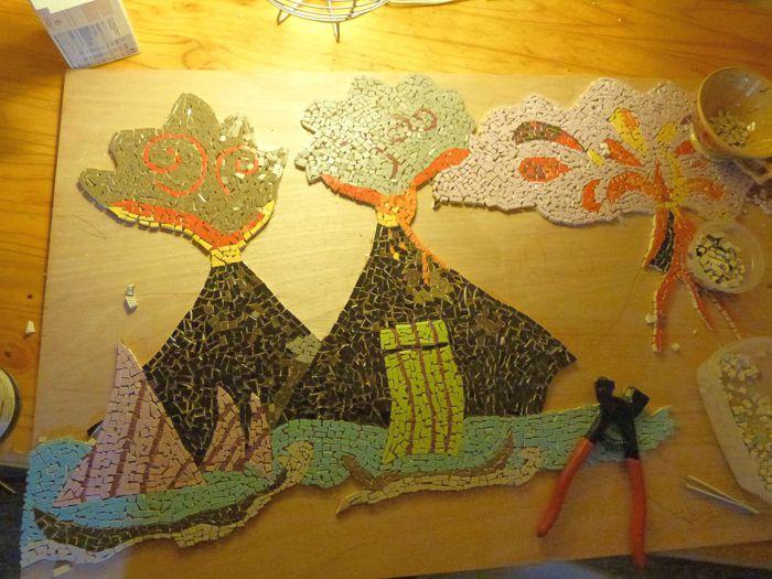 Un artiste et un volcan.