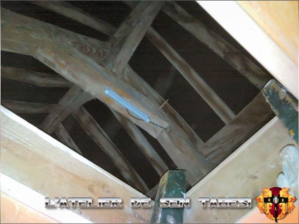 Préparation de l'atelier de Sen Tabesi I.R.L. (In Real Life) à la maison en aménageant le grenier...