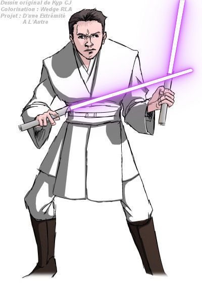 "Voici la version ""Chevalier Jedi"" du costume de Sen Tabesi.